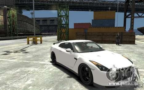 Nissan GT-R R35 Final pour GTA 4 Vue arrière
