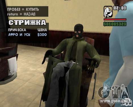 Vêtements d'un harceleur pour GTA San Andreas huitième écran