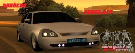Lada Priora Light Tuning pour GTA San Andreas