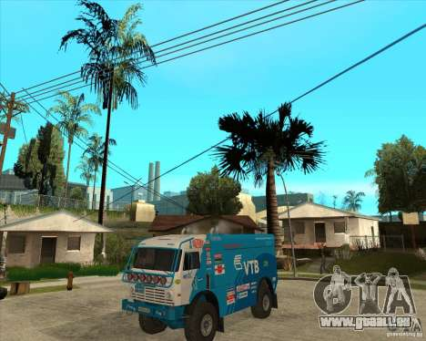 KAMAZ 4911 (2007) Rally Raid version pour GTA San Andreas