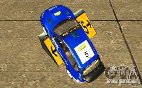 Nouveau vinyle pour Subaru Impreza WRX STi pour GTA San Andreas vue de droite