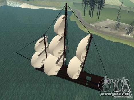 XVIII Century Battleship pour GTA San Andreas laissé vue