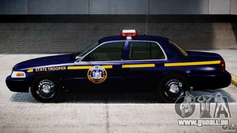Ford Crown Victoria New York State Patrol [ELS] pour GTA 4 Vue arrière de la gauche