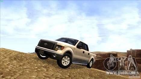 Ford F150 XLT SuperCrew 2010 pour GTA San Andreas laissé vue