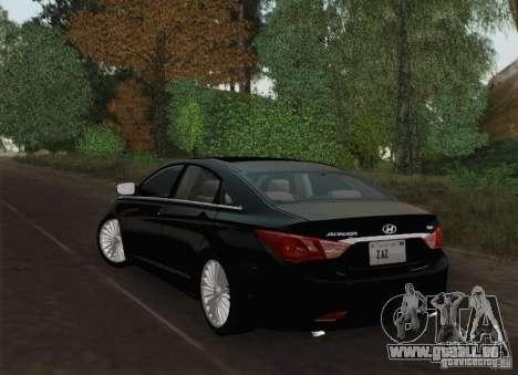 Hyundai Sonata 2012 für GTA San Andreas Unteransicht