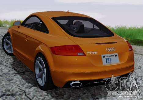 Audi TT-RS Coupe für GTA San Andreas obere Ansicht
