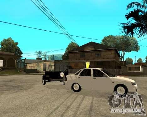 LADA 2170 Priora Light tuning und trailer für GTA San Andreas rechten Ansicht