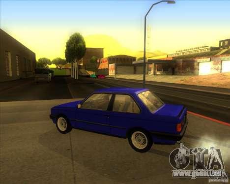 BMW E30 323i pour GTA San Andreas laissé vue