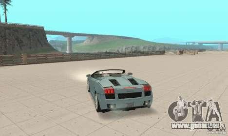 Lamborghini Gallardo Spyder für GTA San Andreas linke Ansicht