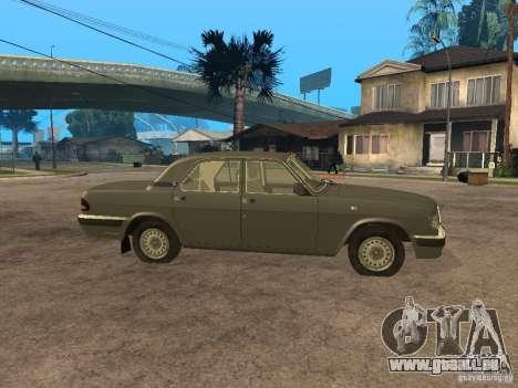 GAZ 3110 v 2 pour GTA San Andreas laissé vue