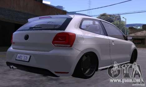 Volkswagen Polo GTI Stanced pour GTA San Andreas vue intérieure