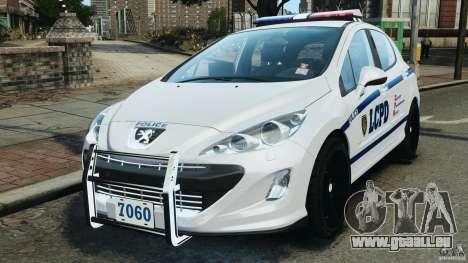 Peugeot 308 GTi 2011 Police v1.1 pour GTA 4