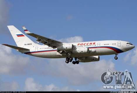 Der IL-96-300-STC-Russland für GTA San Andreas Rückansicht