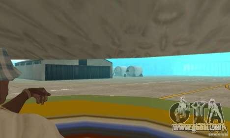 Transporteur aérien de plate-forme élévatrice pour GTA San Andreas vue intérieure