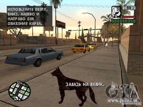Cerberus aus Resident Evil 2 für GTA San Andreas her Screenshot