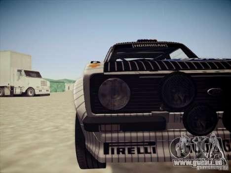 Ford Escort MK2 Gymkhana pour GTA San Andreas vue intérieure