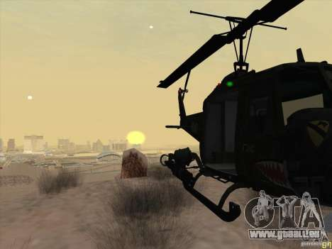 Huey Hubschrauber von Call of Duty black ops für GTA San Andreas Rückansicht