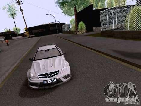 Mercedes-Benz C63 AMG Coupe Black Series pour GTA San Andreas vue de droite