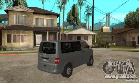 Volkswagen Transporter T5 TDI pour GTA San Andreas vue de droite