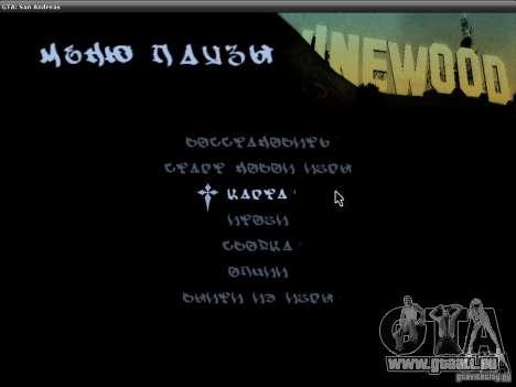 Die Schriftart der NFS-MW-v2 für GTA San Andreas fünften Screenshot
