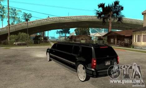GMC Yukon 2008 pour GTA San Andreas sur la vue arrière gauche