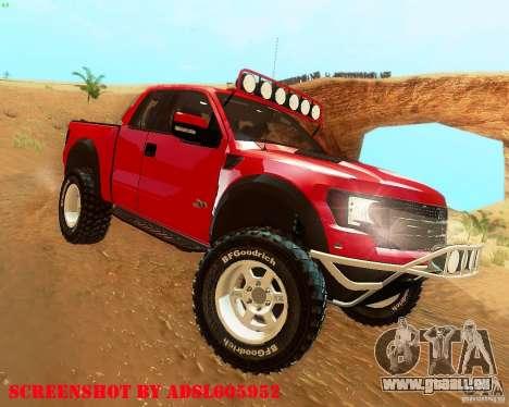 Ford F150 2011 SVT RapTor pour GTA San Andreas vue de droite