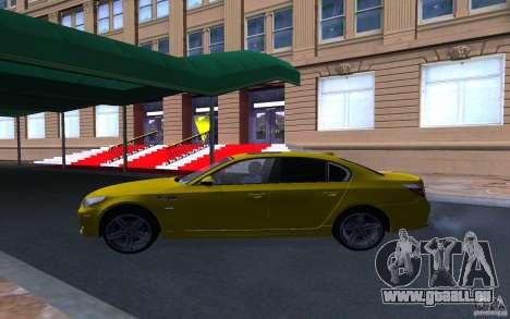 BMW M5 Gold Edition pour GTA San Andreas vue intérieure