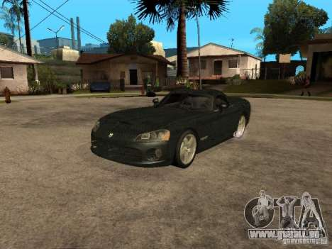 Dodge Viper für GTA San Andreas Unteransicht