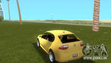 Seat Leon Cupra R pour une vue GTA Vice City de la gauche