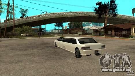 Limousine de Sultan pour GTA San Andreas sur la vue arrière gauche