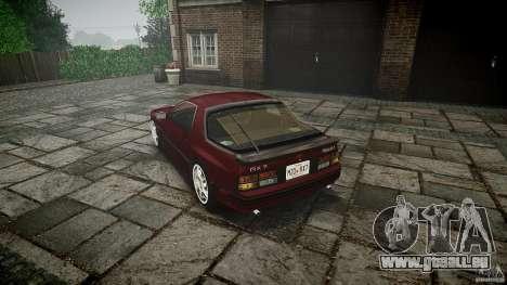 Mazda RX7 FC3S pour GTA 4 Vue arrière de la gauche