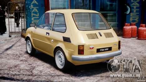 Fiat 126p 1976 pour GTA 4 Vue arrière de la gauche