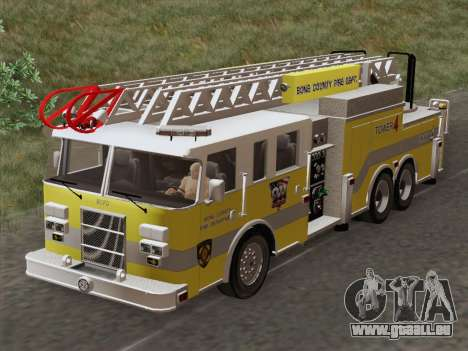 Pierce Arrow XT BCFD Tower Ladder 4 für GTA San Andreas Innenansicht
