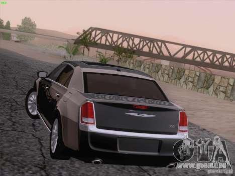 Chrysler 300 Limited 2013 pour GTA San Andreas vue de dessous