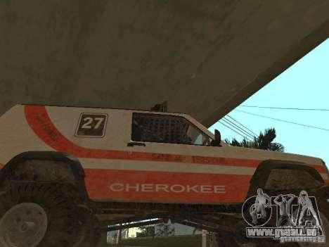 Jeep Cherokee 1984 für GTA San Andreas Innenansicht