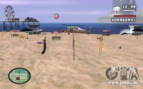 SA Volleyball pour GTA San Andreas troisième écran