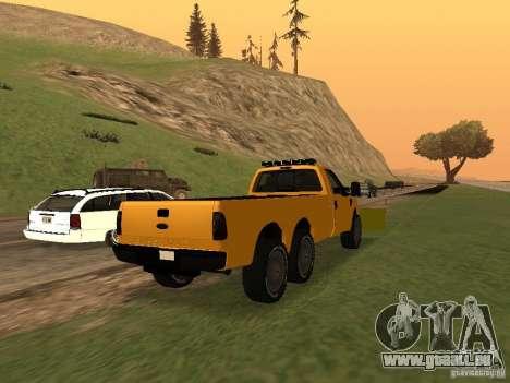 Ford Super Duty F-series pour GTA San Andreas sur la vue arrière gauche