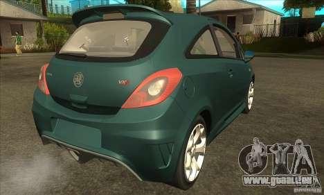 Vauxhall Corsa VXR pour GTA San Andreas vue de droite