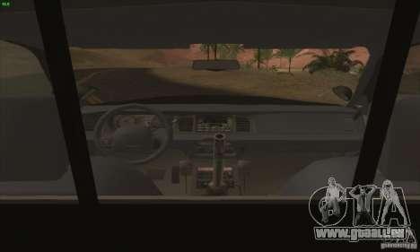 Ford Crown Victoria Florida Police für GTA San Andreas rechten Ansicht