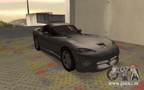 Dodge Viper GTS Tunable pour GTA San Andreas laissé vue