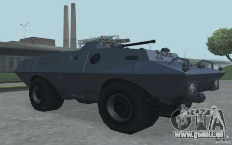 Swatvan avec mitrailleuse pour GTA San Andreas troisième écran
