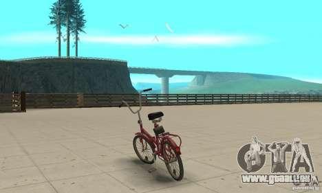 Vélo de Kama pour GTA San Andreas sur la vue arrière gauche
