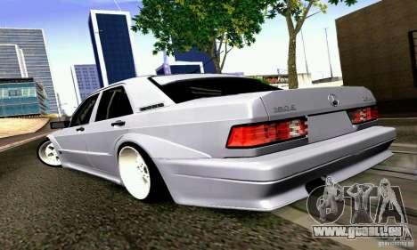 Mercedes-Benz 190E Drift pour GTA San Andreas laissé vue