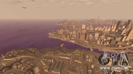 Die lila Farbe des Wassers für GTA 4 weiter Screenshot