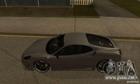 Ferrari 430 Scuderia Novitec pour GTA San Andreas laissé vue