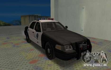 Ford Crown Victoria Police Interceptor LSPD pour GTA San Andreas laissé vue