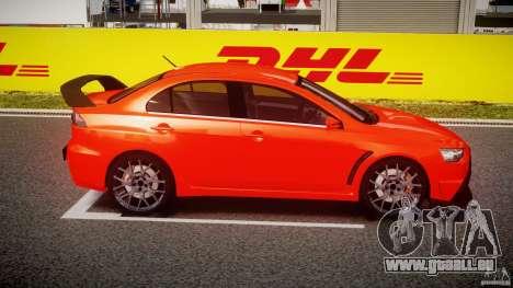 Mitsubishi Lancer Evo X 2011 pour GTA 4 est une vue de l'intérieur