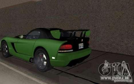 Dodge Viper ein wenig tuning für GTA San Andreas rechten Ansicht