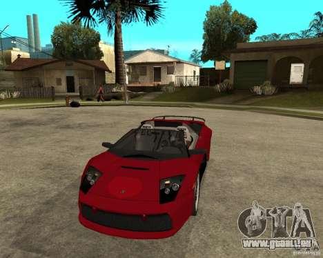 Lamborghini Murcielago SHARK TUNING pour GTA San Andreas vue arrière