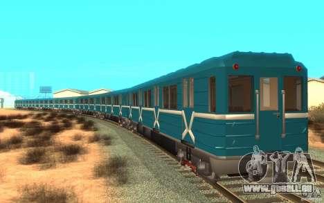Metro type 81-717 für GTA San Andreas linke Ansicht